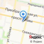 Проспект на карте Белгорода
