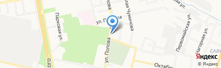 Курган на карте Белгорода