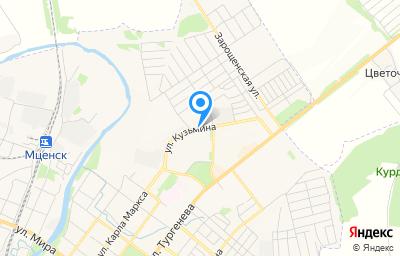 Местоположение на карте пункта техосмотра по адресу Орловская обл, г Мценск, ул Кузьмина