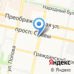 Комитет имущественных и земельных отношений на карте Белгорода