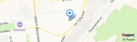Фламинго на карте Белгорода