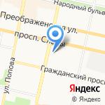 Континенталь на карте Белгорода