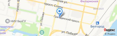 Гражданский на карте Белгорода
