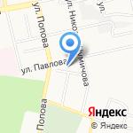 Гимназия №12 на карте Белгорода