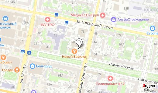 Альфа-Сити. Схема проезда в Белгороде