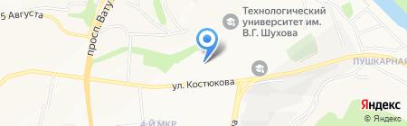 Белогор на карте Белгорода