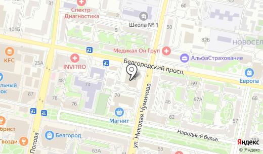 ТехноЛизинг. Схема проезда в Белгороде