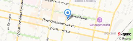 Бриск на карте Белгорода