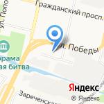 Современный дом на карте Белгорода