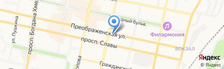 Мон Шери на карте Белгорода