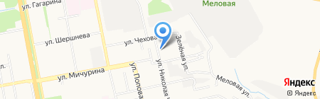 Белый край на карте Белгорода
