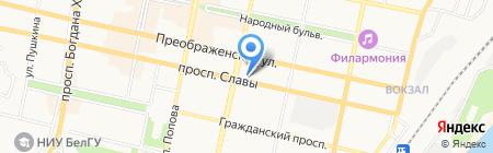 Гермес на карте Белгорода