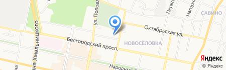 Специальная коррекционная общеобразовательная школа №30 на карте Белгорода