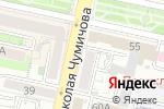 Схема проезда до компании 100 одёжек в Белгороде