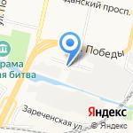 Эскалада на карте Белгорода