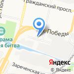Елочка на карте Белгорода