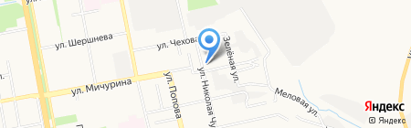 Кросс на карте Белгорода