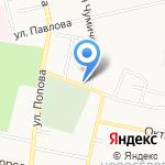 Магазин школьных товаров на карте Белгорода