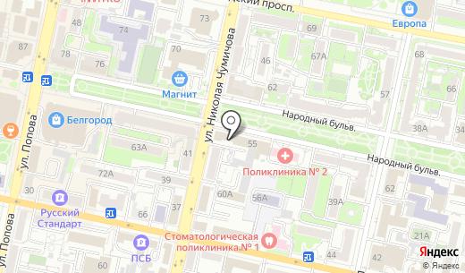 АльянсТрансГрупп. Схема проезда в Белгороде