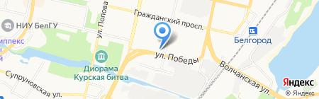 Универсам-2 на карте Белгорода