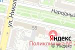 Схема проезда до компании Фонд социального страхования РФ в Белгороде