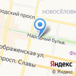 Фонд социального страхования РФ на карте Белгорода