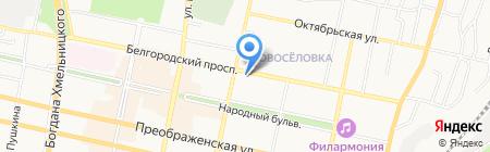 Элен на карте Белгорода