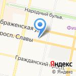 Белгород экспорт–импорт на карте Белгорода