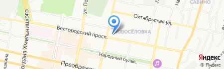 Центрально-Черноземный Банк Сбербанка России на карте Белгорода