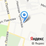 Белгородское лесничество на карте Белгорода