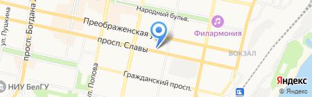 Фемида на карте Белгорода