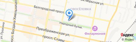 Библиотека №6 на карте Белгорода