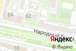 Схема проезда до компании Библиотека №6 в Белгороде