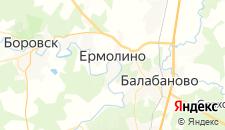 Гостиницы города Ермолино на карте