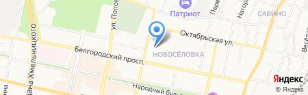 Центр на карте Белгорода