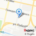 Ареал на карте Белгорода
