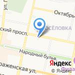 Отдел военного комиссариата Белгородской области по Восточному округу г. Белгорода на карте Белгорода
