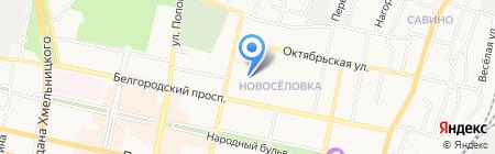 Шиномонтажная мастерская на ул. Николая Чумичова на карте Белгорода