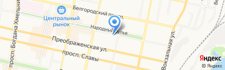 Букватория на карте Белгорода