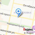 Средняя общеобразовательная школа №14 на карте Белгорода