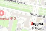 Схема проезда до компании Санги Стиль в Белгороде