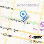 Твердохлеб на карте Белгорода