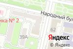 Схема проезда до компании Афина в Белгороде