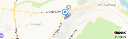 Отдел военного комиссариата Белгородской области по Белгородскому району на карте Белгорода