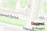 Схема проезда до компании De Париж в Белгороде