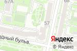Схема проезда до компании ДЮСШ №4 в Белгороде