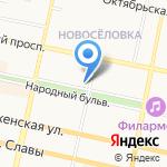 Мишка-Топтыжка на карте Белгорода