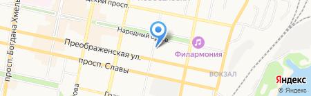 Комитет по управлению Восточным округом на карте Белгорода