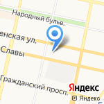Сектор индивидуального жилищного строительства ЖБК-1 на карте Белгорода