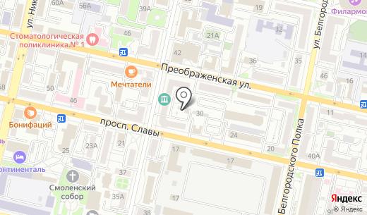 Селиком. Схема проезда в Белгороде